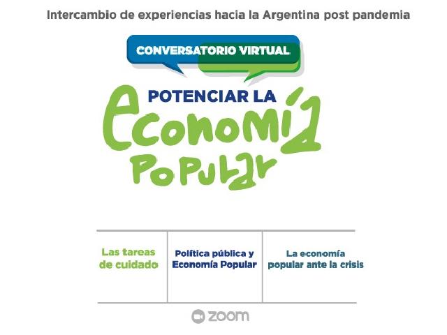 """Conversatorio virtual: """"Potenciar la economía popular"""""""