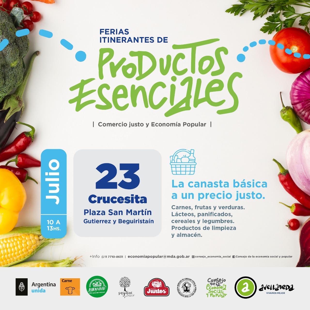 📆JULIO- FERIAS ITINERANTES DE PRODUCTOS ESENCIALES