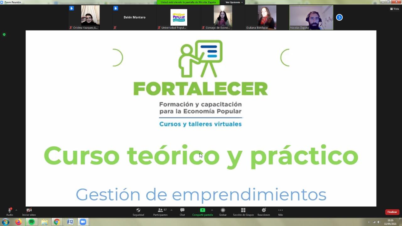 Programa FORTALECER – Capacitación y formación de la Economia Popular