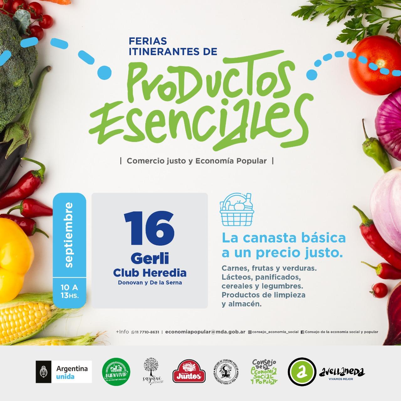 📆SEPTIEMBRE- FERIAS ITINERANTES DE PRODUCTOS ESENCIALES